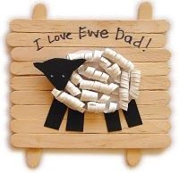 Father's Day gift fathers day crafts, idea, father day, fathers day gifts, sheep, kids, preschool crafts, kid craft, art projects