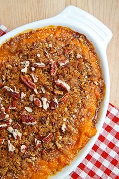 My favorite thanksgiving side: sweet potato casserole!