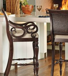 Our Montserrat Coastal Barstool exudes the coastal vibe of British Colonial fine furnishings.