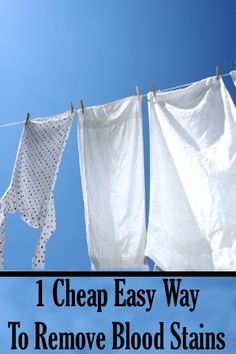 1 Cheap easy way to remove blood stains