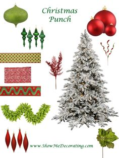 Christmas Trees Christmas Punch Theme by Show Me