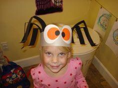 Brilliant Beginnings Preschool: Halloween Spider Hat how-to kids craft