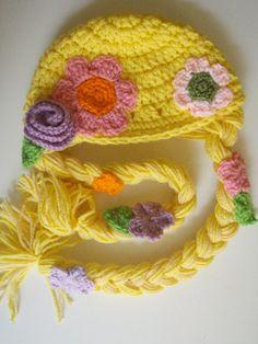 Rapunzel Hat Crochet Pattern PDF by prettythings55 on Etsy