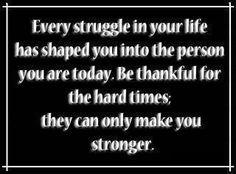 Hard times!