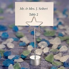 Star Place Card Holder Favors