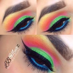 color eye, eyeshadow tutori, eye makeup