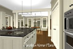 Plan LG-2715-GA provides a large, well equiped open kitchen great for family gatherings or a multi-cook family