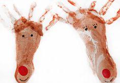 Reindeer foot and hand print