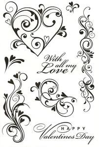 Valentine Flourishes stamp