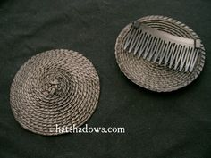 Black Straw Fascinator Millinery hat Base with Comb on Etsy, $4.75