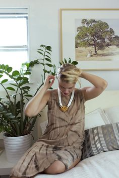Vintage dress with Christy Curcuru's Growing Jewelry