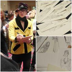 Artist Denise Fike at Philly Flower Show