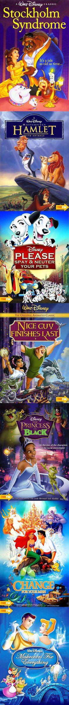 Alternate Disney film titles.