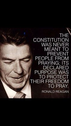 Ronald Reagan on prayer and the Constitution