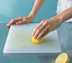Use a Lemon to Freshen a Cutting Board