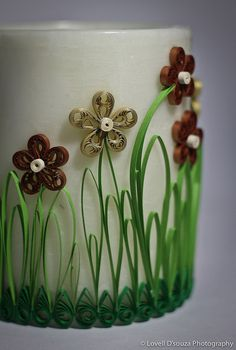 Quilling on a candle