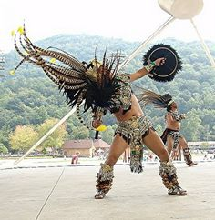 The Cherokee Indians have a lot of celebrations. They dance and feast.