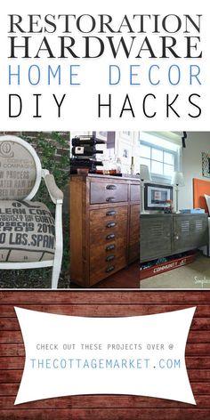 Restoration Hardware Home Decor DIY Hacks - The Cottage Market   #RestorationHardware, #RestorationHardwareHacks, #RestorationHardwareDIYProjects