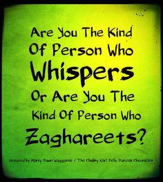 Sometimes I whisper;