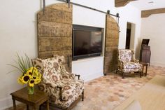 barn doors to cover tv