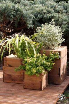 ... une jardinière avec une palette en bois..  Article  NotreDeco.com