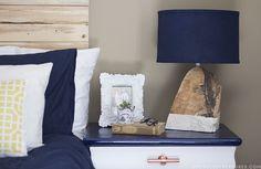 DIY Modern Rustic Wood Lamp