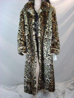 Stunning Pamela Mccoy Leopard Fur Coat Women's by urbanquality, $269.00