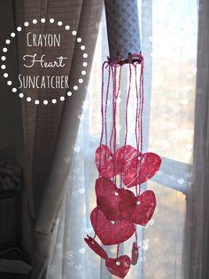 diy crayon heart suncatcher tutorial