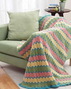 Ravelry: Ripple Stitch Afghan pattern by Bernat Design Studio