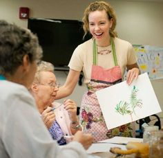 People with dementia express selves through art | The seniors were at their fourth Memories in the Making class, a pilot program that offers residents with Alzheimer's and dementia a way to express themselves through drawing and painting. This is the first month for the pilot program, trademarked by the Alzheimer's Association.