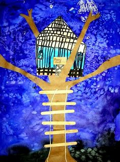 Night time tree house from Belvedere Elementary School
