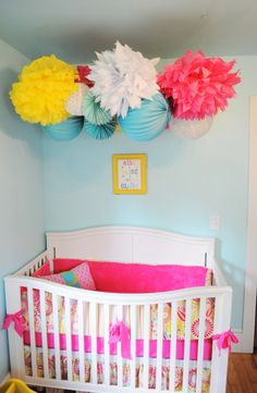 ProjectNursery masters the pop of color in this nursery! #landofnod