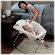Fisher price rock and play...instead of bassinet.
