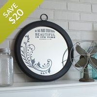 This mirror is a major steal at just $15!!! Swoon!!!