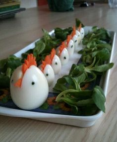 Hard Boiled Chick Eggs and Display Ideas #easter