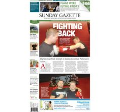 The front page of the Taunton Daily Gazette for Sunday, Aug. 17, 2014.