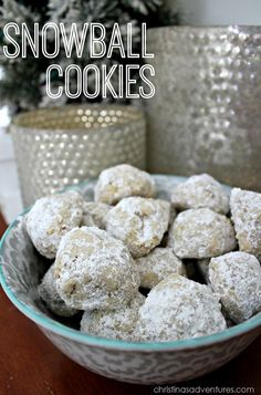 Snowball Cookies - only 6 ingredients  christinasadventures.com