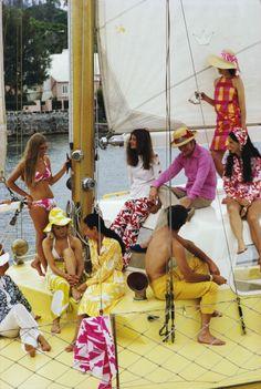 Colorful Crew, Bermuda, 1970. Photo by Slim Aarons.