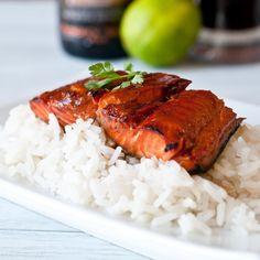 Maple & Bourbon Beer-Glazed Salmon - The Beeroness Recipe