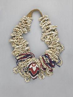 Uganda, Necklace, beads/shells/plant fiber