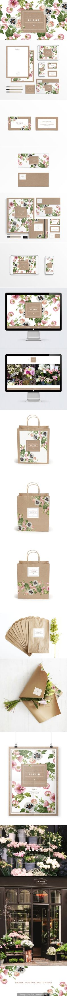 How beautiful is Fleur #identity #packaging #branding curated by Packaging Diva PD created via https://www.behance.net/gallery/15892001/F-L-E-U-R