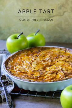 apple tart | gluten-free + vegan