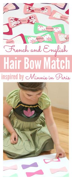 It's a match game in TWO languages. #MinnieInParis