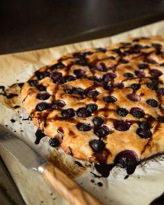 Grape Focaccia with Balsamic Glaze via Sweet Paul Magazine #SweetPaul #Focaccia #Grape #Bread
