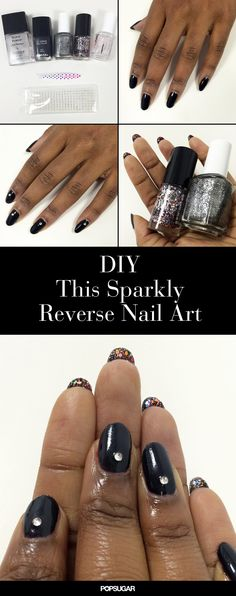 The perfect manicure to take you from a mild day in the office to a wild night out. #nailart