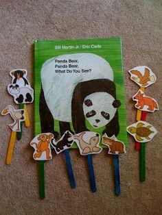 preschool printables, bear printabl, panda bear