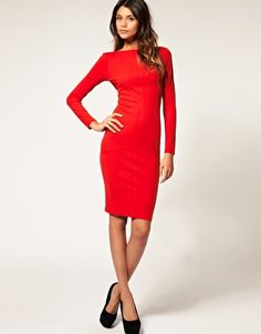 ASOS Pencil Dress with Seam Detail $71.00. Ahhh LOVE IT