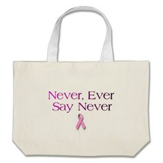 Breast Cancer Quote Bag