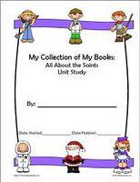 mini-books download: All About The Saints Unit Study