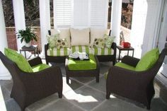 small porch decor with best furniture